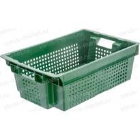 Пластиковый ящик, 600x400x200 мм., с перфорацией, для хранения мяса
