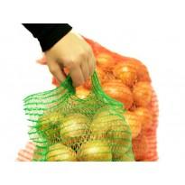 Сетка овощная с ручкой 25х39 см 5 кг красная, зеленая, фиолетовая