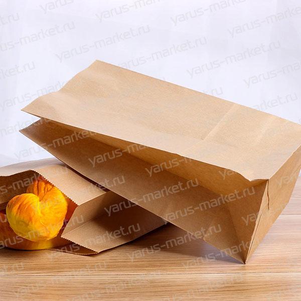 Крафт-пакет, 23х8х5 см., для хранения и фасовки хлебобулочных изделий