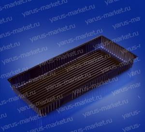 Коррекс ИП-15 из ПЭТ, черный, для упаковки пирожных, конфет