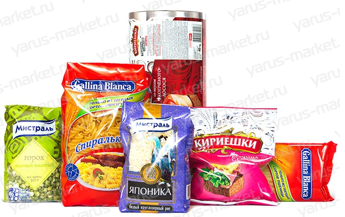 Купить упаковку для бакалейной продукции оптом в магазине ЯрусМаркет