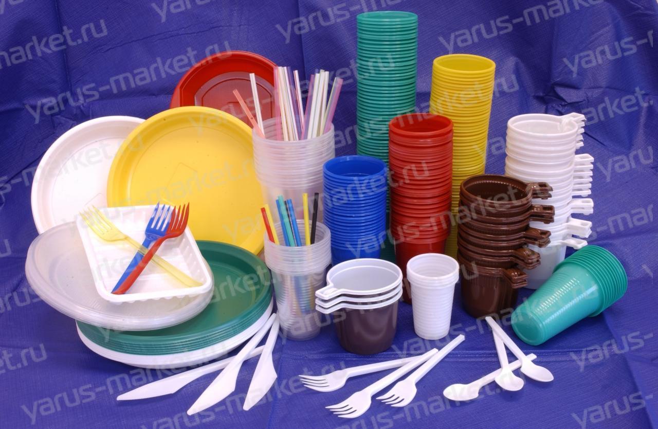Одноразовая пасуда. Купить одноразовую посуду оптом с доставкой в магазине ЯрусМаркет.Ру