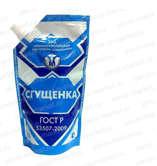 Сгущенка в гибкой упаковке. Заказать гибкую упаковку для масложировой продукции в магазине yarus–market.ru